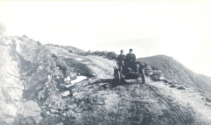 """L.J. Phelps sets the first official speed record at the Mt. Washington Auto Road in August of 1903, a year prior to the first Climb to the Clouds Hillclimb. Phelps record time was 1 hr 48 min and he drive his own car, a """"Phelps""""."""