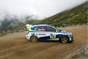 David Higgins drives a Subaru WRX to new Mt. Washington record.