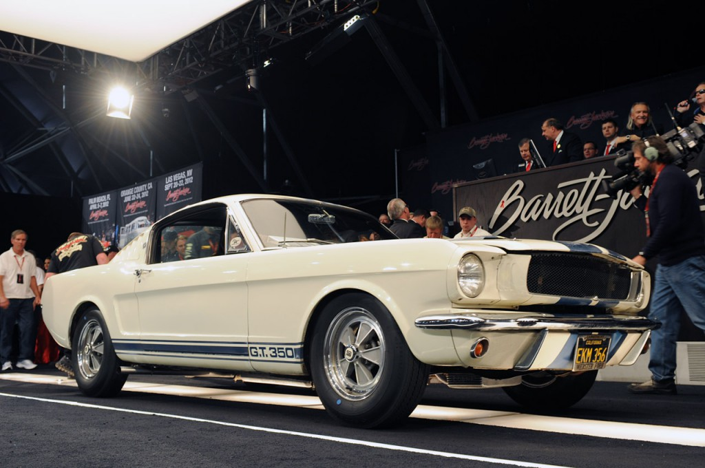 'Barnfind' Shelby on the black at Barrett-Jackson