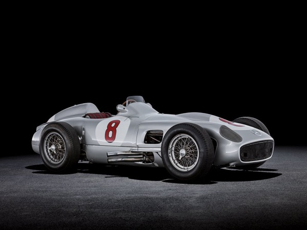 Juan Manuel Fangio won the 1955 F1 championship in one of these, a Mercedes W 196 Silver Arrow