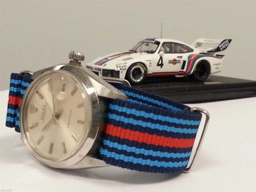 Martini Racing inspired nato strap.