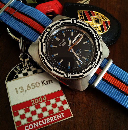 Gulf racing on a vintage Seiko