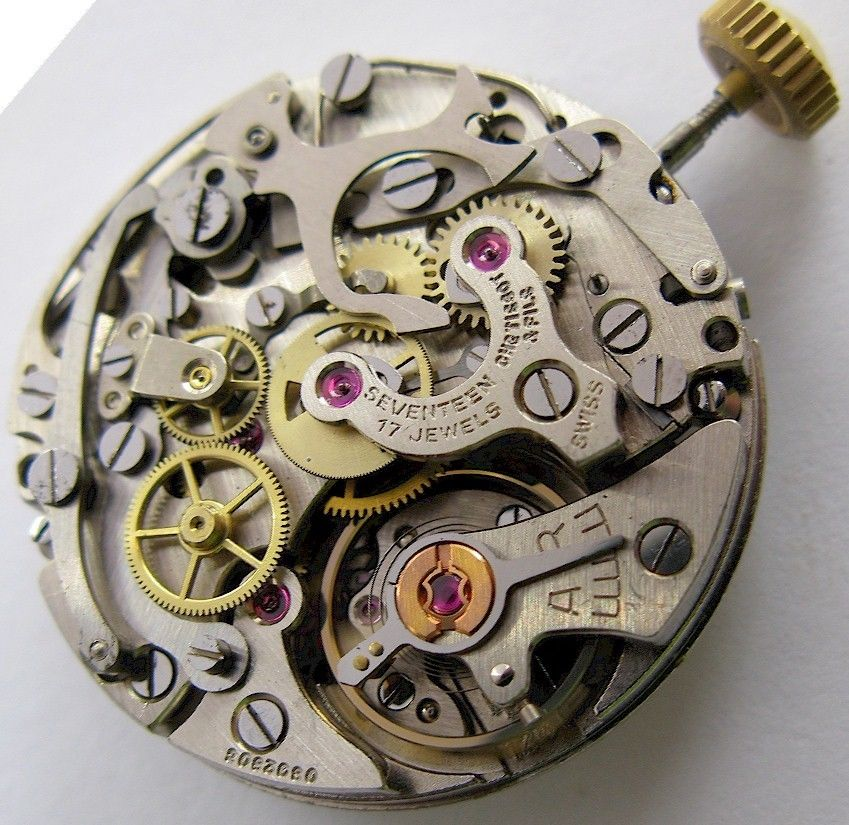 A vintage mechanical watch movement is a beautiful thing.