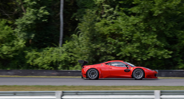 Ferrari action at Lime Rock